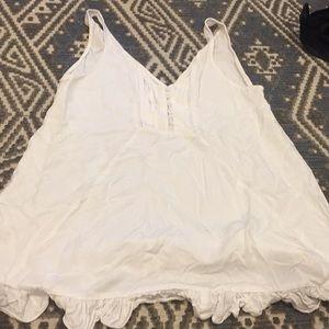 LF white baby doll dress